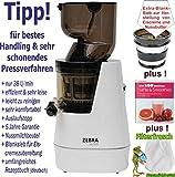 Zebra Whole Slow Juicer weiss/Entsafter / Saftpresse/Gesundheit