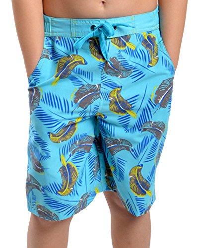 Traje-de-bao-para-nios-chicos-Safari-Print-Swim-Shorts-troncos-playa-pantalones-Surf-vacaciones-luz-azul-8-a-9