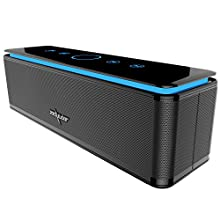 ZEALOT S7 Altoparlanti Touch Control Bluetooth Speaker Wireless,10000mAh Banca di Potere/26W/LED Lignt/3,5mm AUX/TF Card per Iphone/Smartphone Android/Mac/Tablet PC,ecc-NERO