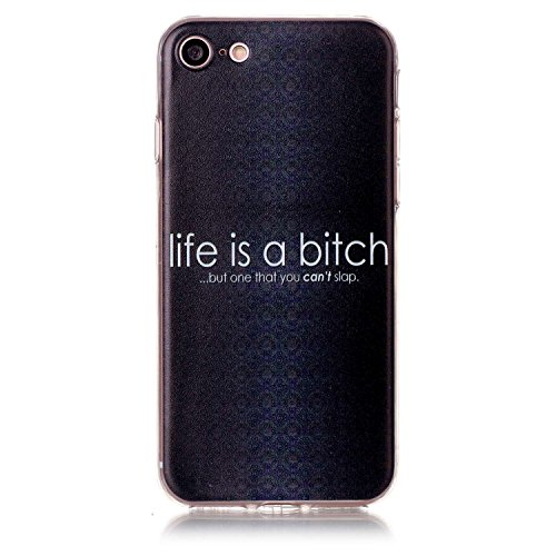 Apple iPhone 7 4.7 Hülle, Voguecase Schutzhülle / Case / Cover / Hülle / TPU Gel Skin (Feder-Anhänger) + Gratis Universal Eingabestift life