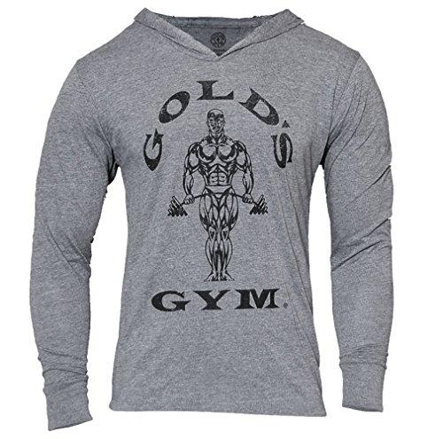 Golds Gym Tri Blend Hoodie, Farbe: VINTAGE GREY MARL, Gr: MEDIUM