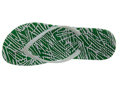 Nike Damen Wmns Solarsoft Thong 2 Print Zehentrenner Blanco (White / Spring Leaf)