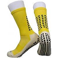 presox Unisex Deportes Thicken Cojín Calcetines Con Puntos De Goma Para Béisbol/Fútbol/Futbol Espinilleras, color Amarillo - amarillo, tamaño talla única