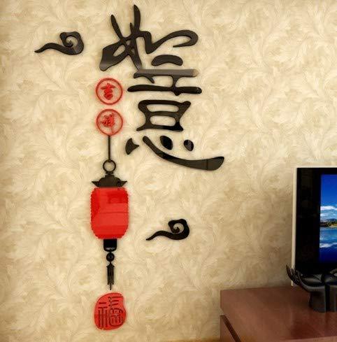 CMMO Wishful Laterne kristall acryl 3D wandaufkleber Chinese New Year Home Decor Wohnzimmer Sofa Eingang Wandtattoos Aufkleber Kunst