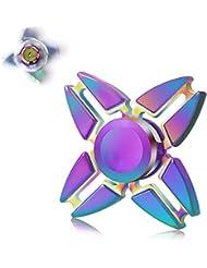 Volador Jouet de Tri-Spinner Fidget, Mini Poche Jouet Triangle Gyro Cadeau pour Adultes et Enfants Réducteur de Contrainte Anxiété Autisme