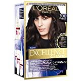 L'Oréal Paris Excellence Créme Dedicato alle Brune Colorazione Permanente, Ottima Copertura Capelli Bianchi, 300 Castano Scuro Naturale