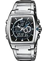 Reloj de caballero CASIO EFA-120D-1AVEF Edifice de cuarzo, correa de acero inoxidable color negro (con cronómetro, alarma, luz) de Casio