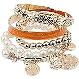 Modisch Damen Mädchen Multilayer Perlen Armband Kette Armkette