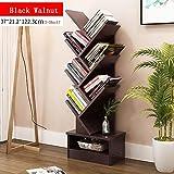 CLEAVE WAVES 7-Regal-Baum-förmige Bücherregal-Displayablage Organizer Freistehender Bücherregal 14,5