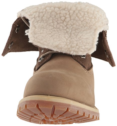 Timberland Womens Authentic Tedy Fleece Waterproof Leather Boots Marron(Taupe Nubuck)