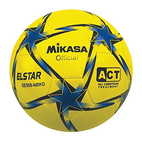 Mikasa Elstar, balón fútbol unisex adulto, Unisex adulto, Elstar, Giallo/Azzurro/Nero