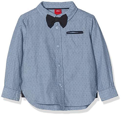 s.Oliver Baby-Jungen Hemd 65.811.21.6900, Blau (Blue Melange 58w5), 62