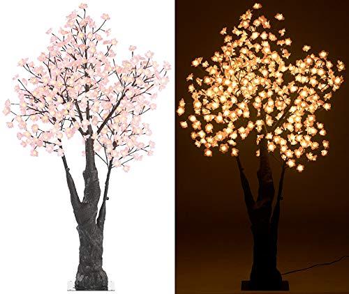 Luminea Lichterbaum: LED-Deko-Kirschbaum, 384 beleuchtete Blüten, 150 cm, für innen & außen (LEDbäume)