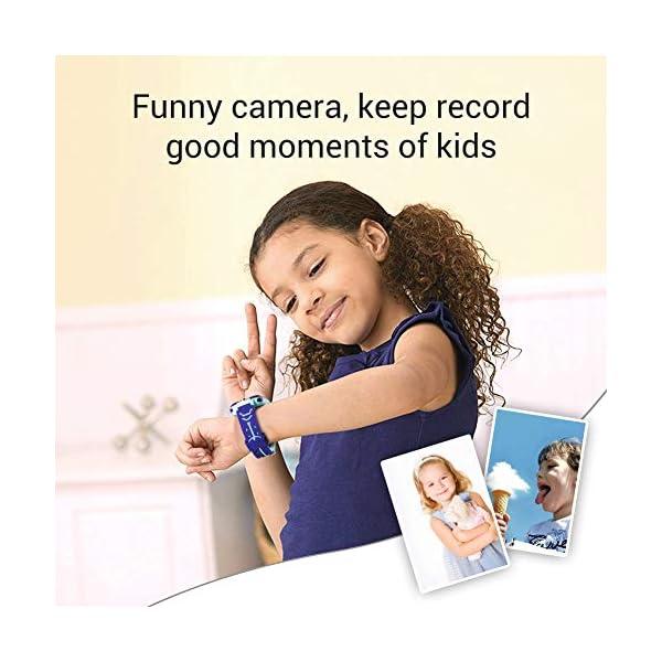 Smartwatch para niños, Smart Watch Phone con Reproductor de música, SOS, 1,44 Pulgadas, Pantalla táctil LCD con cámara Digital, Juegos, Despertador para niños y niñas 5
