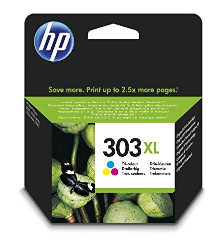 HP 303XL Cartouche d'encre trois couleurs Cyan, Magenta et Jaune grande capacité HP authentique (T6N03AE)