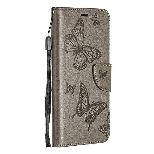 BravoDay Sony Xperia 10 Hülle, Premium Leder Tasche Flip Wallet Case [Kartenfächern] PU-Leder Schutzhülle Brieftasche Handyhülle für Sony Xperia 10-Braun