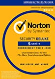 Produkt-Bild: Norton Security Deluxe 2018 | 5 Geräte | 1 Jahr | PC/Mac/iOS/Android | Download