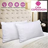 #5: Casa Copenhagen Super Soft Snore Relief Hypo Allergenic Pack of 2 Pillows Fillers/Inserts (16 x 24 inches)
