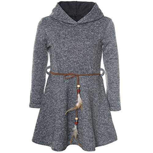 BEZLIT Mädchen Kleid Kostüm Kapuze Peticoat Festkleid Langarm -