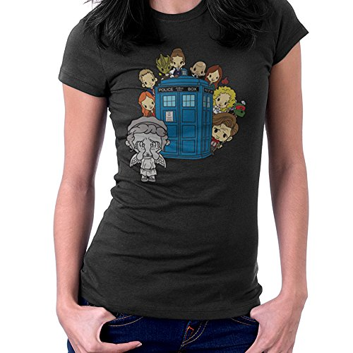 ngel Hide and Seek Matt Smith Tardis Women's T-Shirt (Doctor Who River Song, Shirt)