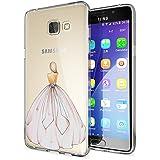 delightable24 Coque de Protection TPU Silicone Case pour Smartphone SAMSUNG GALAXY A5 (2016) - Princess Pink Rose