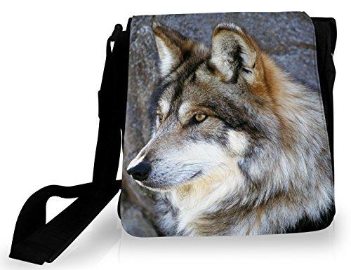 FS - Sacoche Portrait de loup