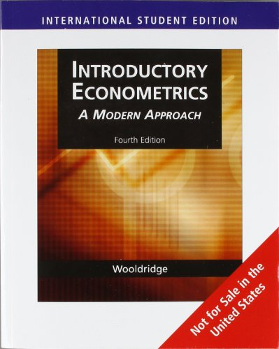 introductory econometrics a modern approach Discover how empirical researchers today actually consider and apply econometric methods with the practical approach in wooldridge's introductory econometrics: a modern approach, 6e.