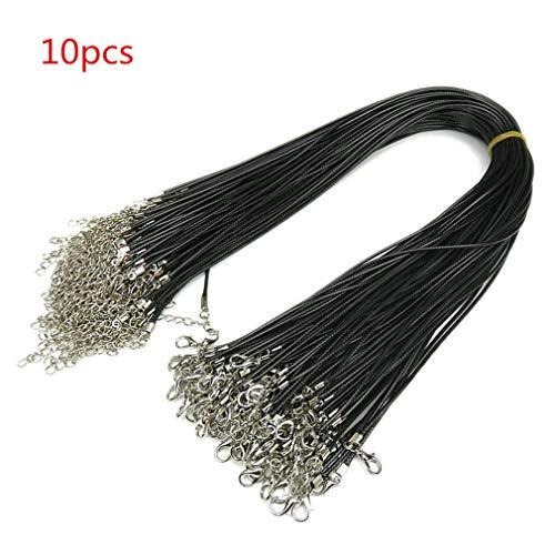 10X Laccio Laccetto Cordoncino nero cuoio di collane