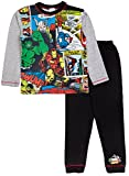 Marvel Jungen Schlafanzug, Figur Avengers - Earth's Mightiest Heroes Gr. 9-10 Jahre, Avengers - Comic Style
