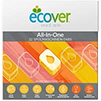 Ecover All-in-One One Lave-vaisselle Tablettes citron, 440 g