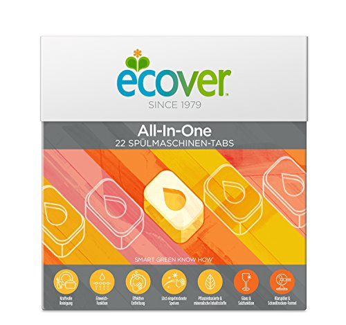 Ecover All-in-One apta lavavajillas Tabs Limón, 440 g
