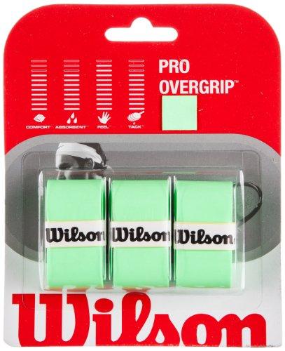 WILSON Pro Overgrip-3er-Set Griffbänder für Tennisschläger, grün