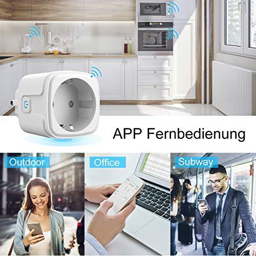 Kompatibel mit Alexa Echo und Google Home Assistant APP gesteuert infray Wlan Steckdose Alexa Steckdose Smart Plug Wifi Steckdose Smart Steckdose 16A