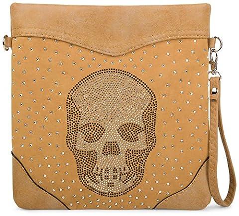 Sac A Main Avec Tete De Mort - StyleBREAKER sac à bandoulière 203141 étui de