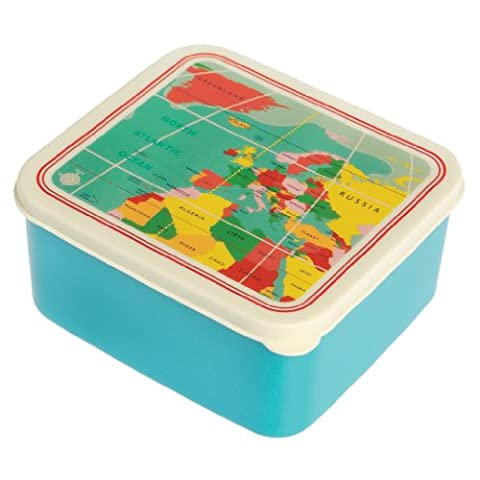 BPA Free Lunch Box - Choice Of Design ( World Map (Designers Lunch Box)