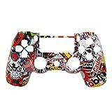 TQS™ Bomba Skull Cover di ricambio Copertina anteriore di caso di Shell Compatibile per PlayStation PS 4 PS4 controller DualShock 4