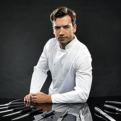 Premier - Casacca da chef, a maniche lunghe, con doppia file di bottoni sul lato anteriore X-Large nero - Uniform Nero