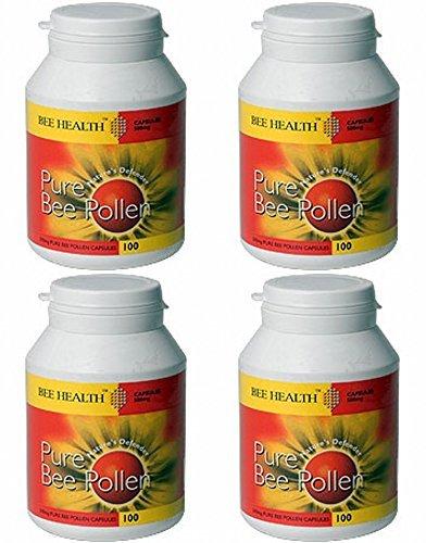 (4er BUNDLE) | Bee Health Pollen 500mg 100 Kapseln | 100 capsule - Bee Health