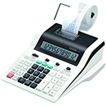 Citizen CX-121N - Calculadora (Escritorio, Impresión, Negro, Color blanco, Botones, Corriente alterna, 19,4 cm)