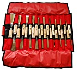 Stubai 510220 Assortimento sgorbie per scultori 20 pzi, Rosso, Medium, Set di 20 Pezzi