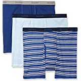 Hanes Men's Ultimate 3-Pack Big and Tall Boxer Brief Stripe