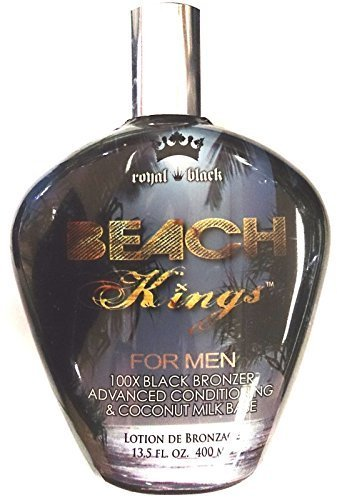 New Beach Kings 100x Black Bronzer for Men Indoor Tanning Bed Lotion By Tan Inc. by Millennium -