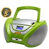 CD-Player | Tragbares Stereo Radio | Kinder Radio | Stereo Radio | Stereoanlage | USB | CD / MP3 Player | Radio | Kopfhöreranschluss | AUX IN | LCD-Display | Batterie sowie Strombetrieb | CP444 (Grün)