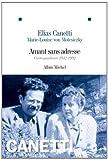 Amant sans adresse - Correspondance 1942-1992