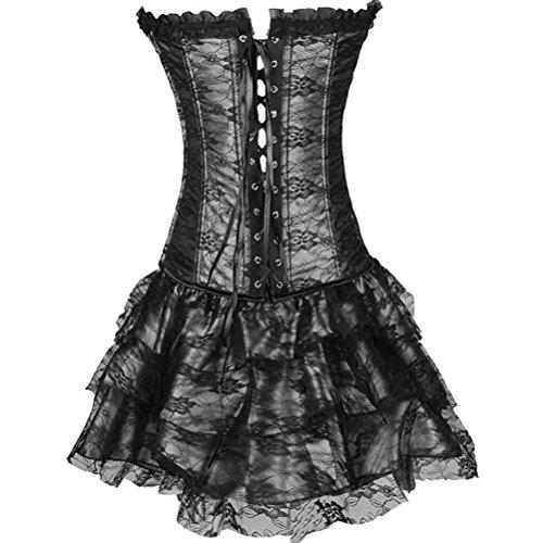 Donna corsetto corpo addome girly Aumentare la dimensione del codice Bustino Abito da sera Gonna da ballo 003