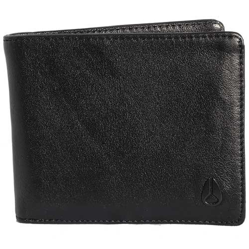 Nixon Satellite Big Bill Bi-Fold ID Coin Wallet Münzbörse, All Schwarz -