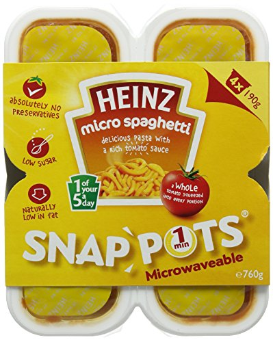 Heinz Spaghetti Snap Pots, 190 g (Pack of 4)