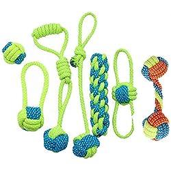 Ashley city Hund Spielzeug 100% natürlicher Baumwolle Seil Hund Kugeln Haustier Seile Tauziehen Seil interaktives Spiel Zähnen kauen Reinigung Spielzeug (Set von 7)