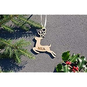Weihnachtskugel mit Namen in Wunschfarbe– Rentier – Christbaumkugel Christbaumschmuck Weihnachtsbaumkugel