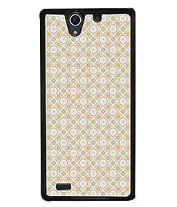 PrintVisa Designer Back Case Cover for Sony Xperia C4 Dual :: Sony Xperia C4 Dual E5333 E5343 E5363 (Circle Star Dotted Printed Square Wallpaper Decorative)